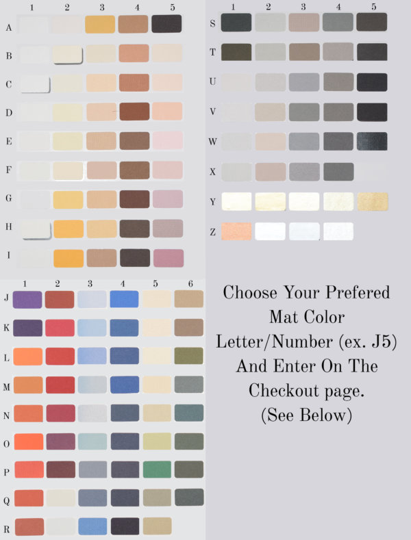 Mat Color Options